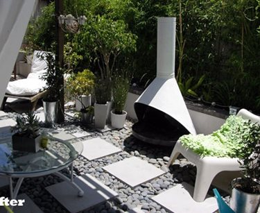 Use a Vintage Fireplace on Your Patio