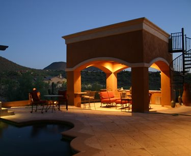 Cabana, Spiral Stairs JSL Landscape LLC Sedona, AZ