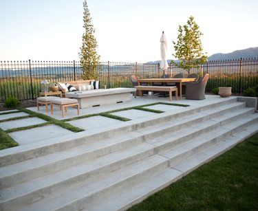 Concrete Patio, Concrete Stairs, Concrete Fire Pit Ag-Trac Enterprises Logan, UT