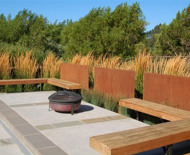 Fire Pit Huettl Landscape Architecture Walnut Creek, CA