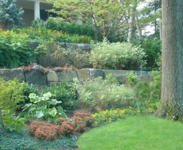 Large, Stone, Wall, Retaining Cipriano Landscape Design Mahwah, NJ