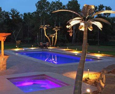 Lighted Pool Deck Prestige Pools St. Paul, MN