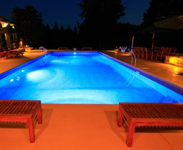 Lighted Pool Deck Prestige Pools St. Paul, MN