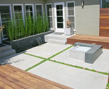 Modern, Concrete, Patio, Fire Feature DC West Construction Inc. Carlsbad, CA