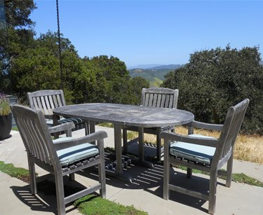 Outdoor Dining Set, Weathered Wood Landscaping Network Calimesa, CA