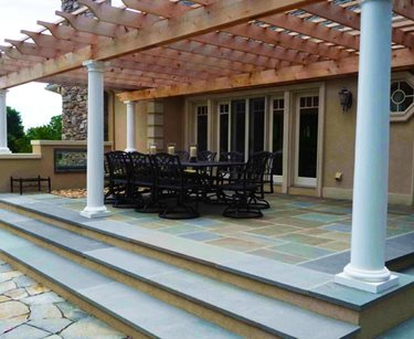 Patio Cover Columns Christensen Landscape Services Northford, CT