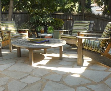 Patio With Flagstone Look Landscaping Network Calimesa, CA
