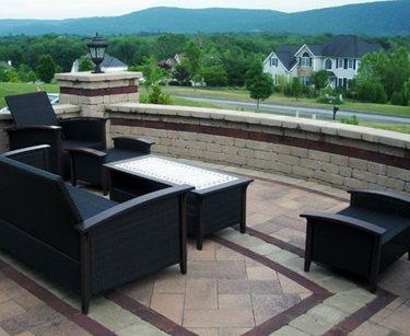 patio lakeside