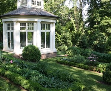 Perennials, Boxwoods, Summer House