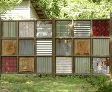Construct an Artistic Recycled Fence
