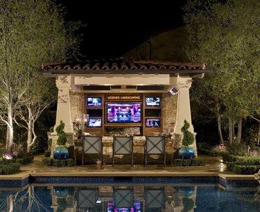Outdoor Bar Sustainable Rooftop AMS Landscape Design Studios Newport Beach, CA