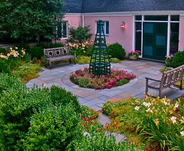 English Circular Patio Garden Swimming Pool Liquidscapes Pittstown, NJ