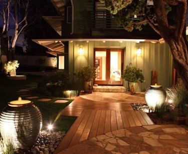Front Entrance Landscaping, Front Entrance Lighting Swimming Pool FormLA Landscaping, Inc. Tujunga, CA