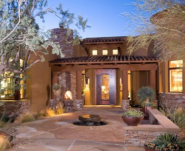 Front Entry Xeriscaping Swimming Pool Boxhill Landscape Design Tucson, AZ