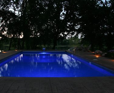 Lighted Pool Deck Swimming Pool Prestige Pools St. Paul, MN