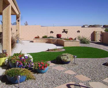 Small Artifical Lawn, Small Backyard Lawn Swimming Pool WaterQuest, Inc. Albuquerque, NM