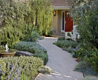 Small Front Yard Design Swimming Pool ALIDA ALDRICH LANDSCAPE DESIGN Santa Barbara, CA