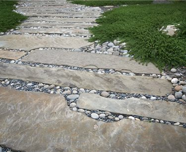 Stone Path Swimming Pool Grace Design Associates Santa Barbara, CA