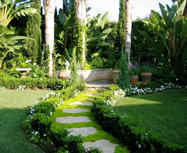 Groundcover Path Walkway and Path David A. Pedersen Landscape Architect Newport Beach, CA
