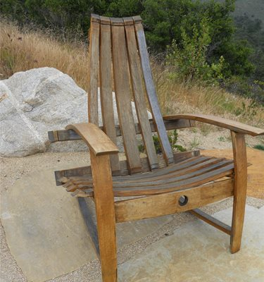 Wine Barrel Chair Pergola and Patio Cover Landscaping Network Calimesa, CA