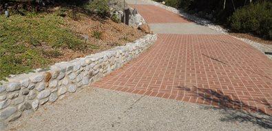 Brick Drive Driveway Landscaping Network Calimesa, CA
