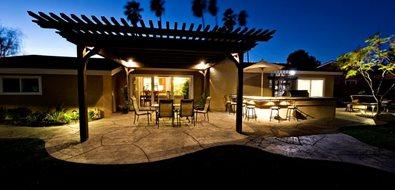 Patio Pergola Lighting Effects Lighting Lifescape Designs Simi Valley, CA