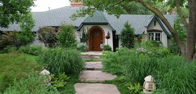Front, Garden, Walkway, Concrete, Stone Mediterranean Landscaping Bonick Landscaping Dallas, TX