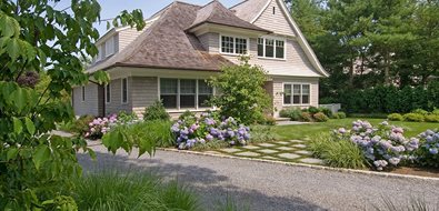 Front Yard Landscaping With Hydrangeas Mediterranean Landscaping Barry Block Landscape Design & Contracting East Moriches, NY