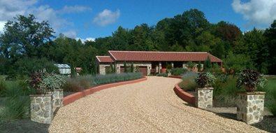 Gravel Driveway Mediterranean Landscaping European Gardens York, SC