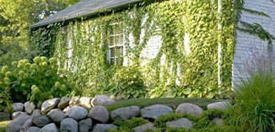 Stacked Stone Wall Mediterranean Landscaping Romani Landscape Architecture Glencoe, IL