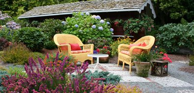 Casual Patio Northern California Landscaping Genevieve Schmidt Landscape Design and Fine Maintenance Arcata, CA