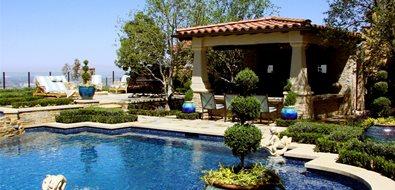 Backyard Resort Orange County Landscaping AMS Landscape Design Studios Newport Beach, CA