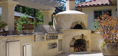 Outdoor Pizza Oven Outdoor Kitchen Douglas Landscape Construction San Jose, CA