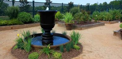 Urn Fountain Southeast Landscaping J'Nell Bryson Landscape Architecture Charlotte, NC