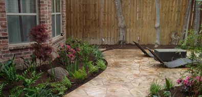 Faux Flagstone Walkway Texas Landscaping Southwest Landscape Design Dallas, TX