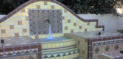 Outdoor Tile, Fountain Tile Fireclay Tile San Jose, CA