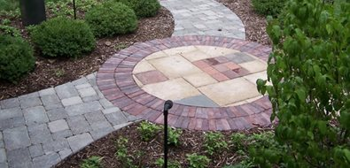 Front Walkway Design Midwest Landscaping Bruss Landscaping Wheaton, IL