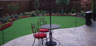Decorative Concrete Patio Texas Landscaping Backyard Creations Carrollton, TX