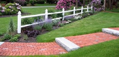Brick Walkway Design Walkway and Path Nature's Palette Landscape Designs Duxbury, MA