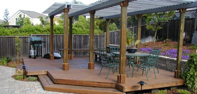 Detached Deck Northern California Landscaping Cyprex Construction Landscapes San Jose, CA