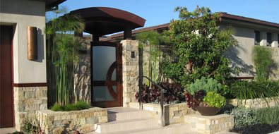Custom Entry Gate Orange County Landscaping David A. Pedersen Landscape Architect Newport Beach, CA