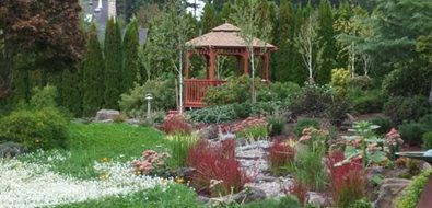 Gazebo, Streambed, Rain Garden Gazebo Changing Landscapes Inc. Lake Oswego, OR