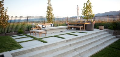 Concrete Patio, Concrete Stairs, Concrete Fire Pit Patio Ag-Trac Enterprises Logan, UT