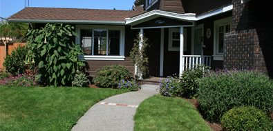 Front Entry Walkway Northern California Landscaping Genevieve Schmidt Landscape Design and Fine Maintenance Arcata, CA
