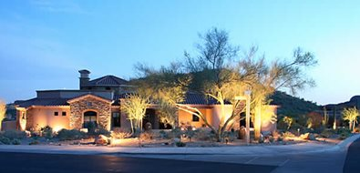 Front Yard, Landscape Lighting Lighting Alexon Design Group Gilbert, AZ