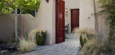 gate stucco entry