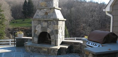 Outdoor Fireplace Classic Masonry Ltd. Putnam Valley, NY