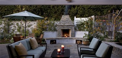 small backyard fireplace - Patio Fireplace Designs