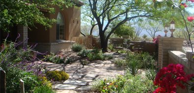 Garden Walkway Southwestern Landscaping Casa Serena Landscape Designs LLC Las Cruces, NM