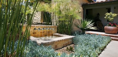 Mediterranean Fountain Los Angeles Landscaping Landscape Development, Inc. Valencia, CA